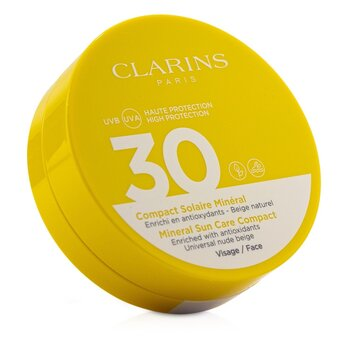 Clarins 礦物防曬緊緻面霜SPF 30-通用裸米色 (Mineral Sun Care Compact For Face SPF 30 - Universal Nude Beige)