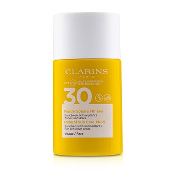 Clarins 礦物防曬霜,適用於面部SPF 30-適用於敏感區域 (Mineral Sun Care Fluid For Face SPF 30 - For Sensitive Areas)
