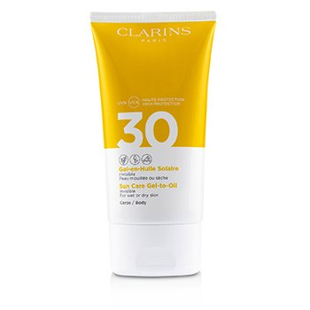 Clarins 防曬霜身體凝膠至油SPF 30-適用於濕性或乾性皮膚 (Sun Care Body Gel-to-Oil SPF 30 - For Wet or Dry Skin)