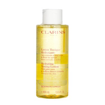Clarins Hydrating Toning Lotion with Aloe Vera & Saffron Flower Extracts - Normal to Dry Skin